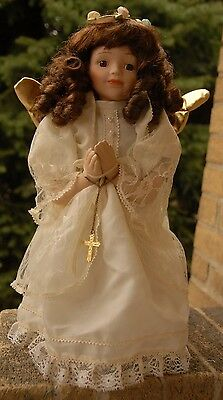VintageThe Broadway Collection Praying Angel Porcelain Doll 15""