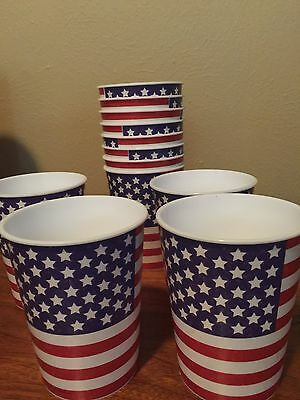 Plastic Patriotic Cups Set Of 12 Flags 4th Of July God Bless America