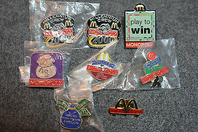 McDonald's Crew Monopoly Pin Collection lot 1