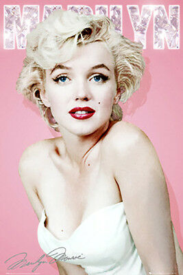 Marilyn Monroe Diamond Poster (24x36) With Choice of Rolled, Frame or Plaque
