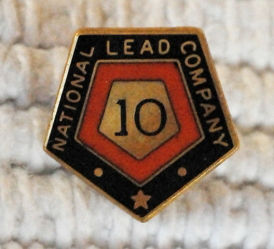Old National Lead Company 10Year Employee Service Award Lapel Pin