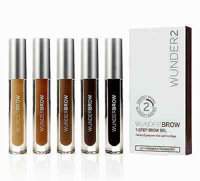 WunderBrow 2 The Perfect Eyebrow Gel 4 SHADES BRUNETTE BLACK/BROWN BLONDE AUBURN