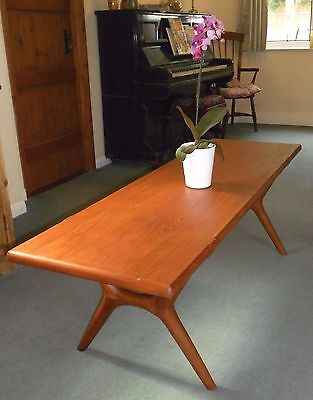 Vintage Mid Century Danish Coffee Table - Solid Rosewood & Teak Karl Erik Carson
