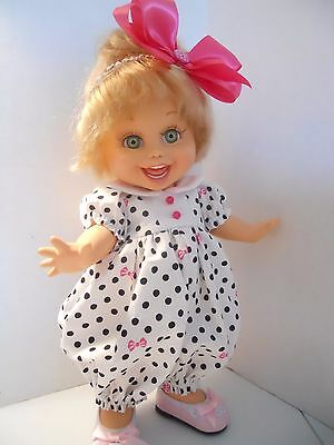 Bubblesuit Romper Set Hot Pink Galoob Baby Face Doll Clothes