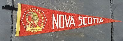 Vintage Nova Scotia Native Indian Themed Souvenir Felt Pennant Canada