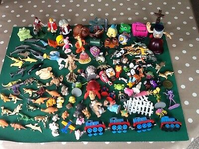 Large Mixed Lot Of Small Toys Boy Or Girl Animals Dinosaurs Thomas Collectables