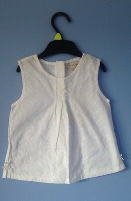 BNWT Rocha Little Rocha Baby Girls White Summer Top 12-18 Months