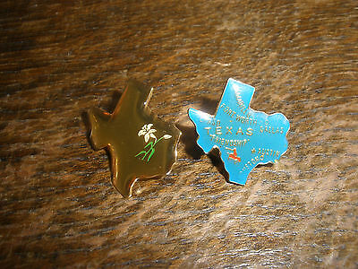 Texas State Hat Lapel Pin  x2