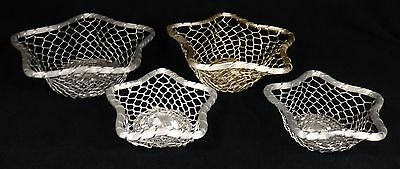 Lot of 4 Star Shaped Metal Baskets Serving Bowls Wedding/Reunion/Picnic/Party