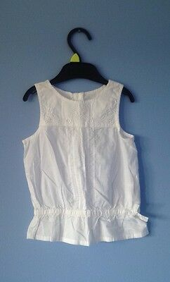H&M Baby Girls White Cotton Summer Top 12-18 Months