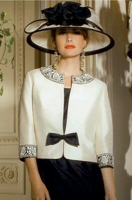 Stunning Condici mother of the bride size 14 black/cream (hat not included)