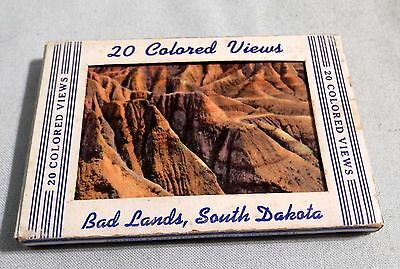 Vintage Bad Lands South Dakota  post cards 20 colored views souvenir advertising