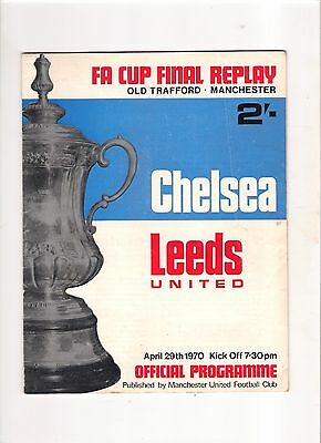 1970  FA Cup Final Replay-------Chelsea v Leeds at Old Trafford