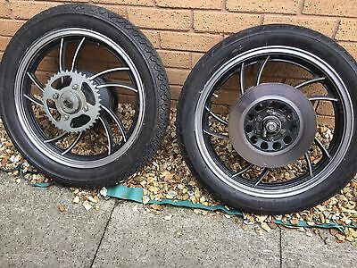 RD 350LC/250 4L0 4L1 Front& rear wheels, with discs, sprocket, drum brake tyres