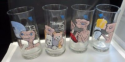 Complete Set of Vintage 1982 E.T. The Extra-Terrestrial Limited Edition Glasses