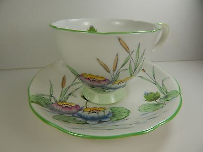 Royal Stafford Tea Cup and Saucer Lily Pond Pattern.