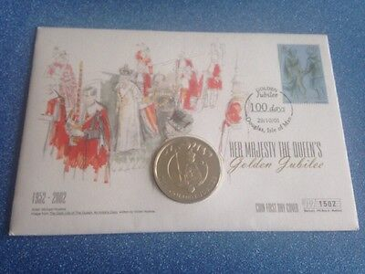 2002 Falkland Island 50p Golden Jubilee First Day Cover