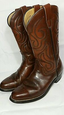 NEW WEST Size 10.5D Brown Genuine Leather~7006 228~Western~Cowboy~Mens Boots!