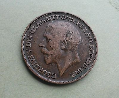 1918 Penny, George V. Good Condition.