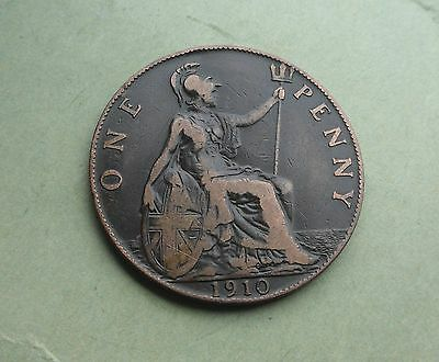 Edward VII Penny 1910, Great Condition