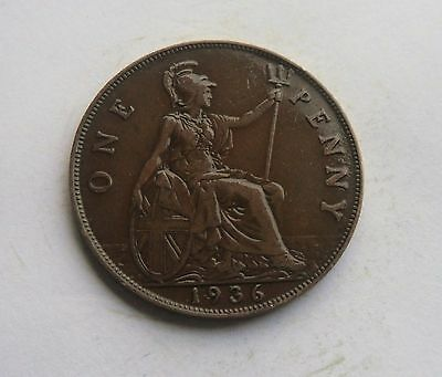 1936 Penny, George V. Lovely Condition.