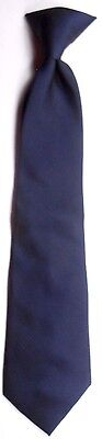 "In Design Boy's Clip-On Polyester Tie 12.5"" X 3"" Navy Geometric"