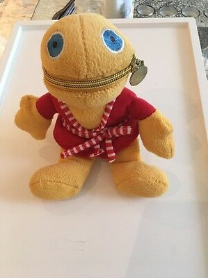 """Zippy from Rainbow 8"""" Soft Toy Red Dressing Gown, RARE"""