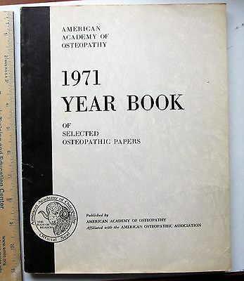 Academy of Applied Osteopathy 1971 Yearbook of selected osteopathic papers