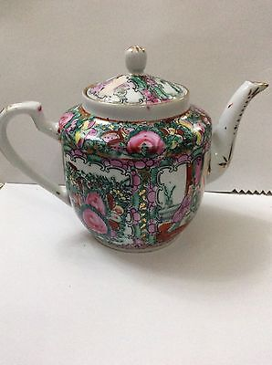 Antique Chinese Famille Rose Handpainted & Gilded Porcelain Teapot,Japanese?