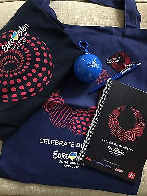 Eurovision 2017 Official Promo Media Bag, T-Shirt, Notepad, Pen, Bauble, Magnet