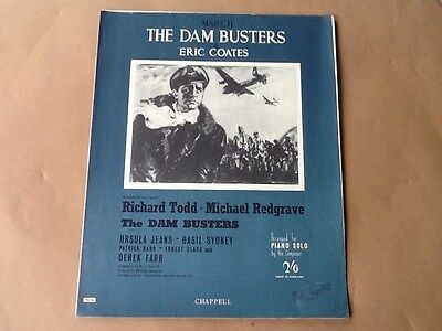 Vintage Sheet Music  ' The Dambusters ' For Piano Solo
