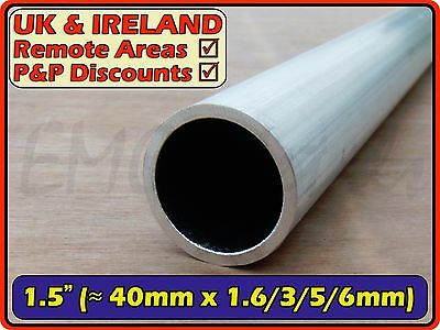 "Aluminium Round Tube (pipe,post,pole,thin,thick) 1.5"" (< 40mm) Diameter OD"