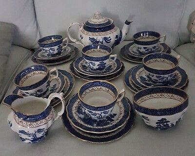Booths REAL OLD WILLOW 22 Piece Tea Set