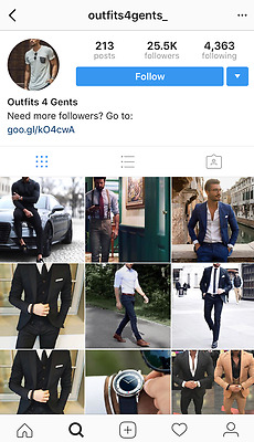 Mens Fashion Instagram Account