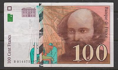 France  100 Cent Francs banknote circulated