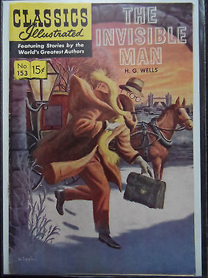 Classics Illustrated #153 (The Invisible Man) Hg Wells (Cover Only)