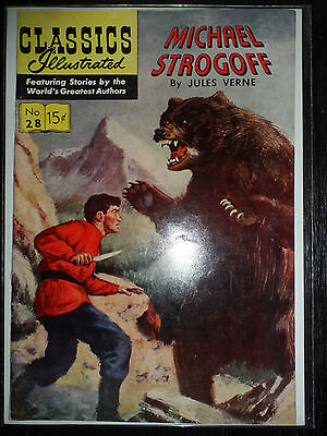 CLASSICS ILLUSTRATED COMIC #28 Michael Strogoff (COVER ONLY)