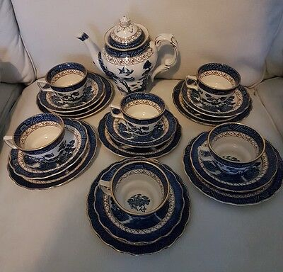 Booths REAL OLD WILLOW 20 Piece Coffee Set