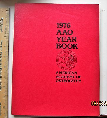 American Academy of Osteopathy 1976 Yearbook