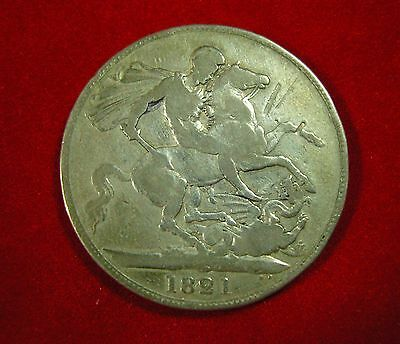 George III Crown 1821 - Lovely silver coin