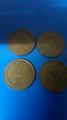 1971-1984 Uk Gb Decimal Old 1/2P Half Penny Pence Coins -