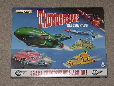 Matchbox TB-700 Thunderbirds Rescue pack Diecast T2,T3,T4 & FAB 1 - Boxed Set