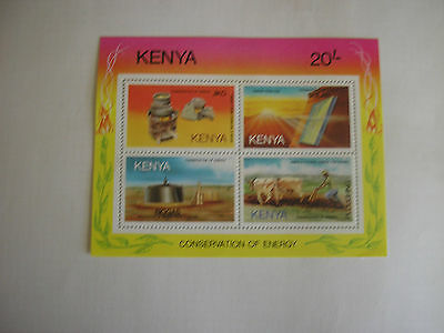 Kenya Conservation of Energy 20/- Stamp Sheetlet