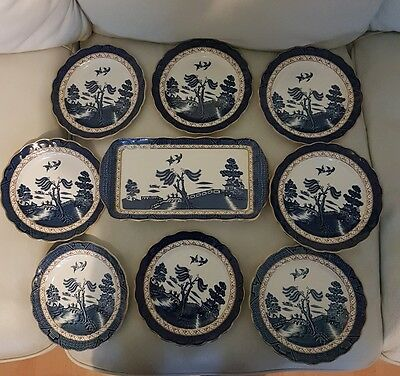 RARE Booths REAL OLD WILLOW 9 Piece Sandwich Set