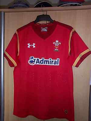 Mens Under Armour Welsh rugby top BNWOT size small