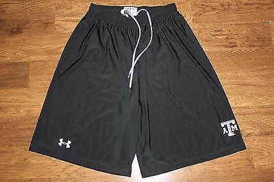 Under Armour Drawstring Athletic Shorts Texas A&m Black Size Small
