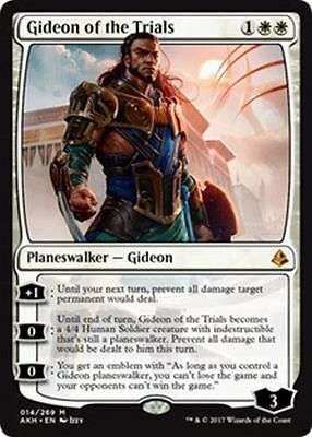 Gideon Of The Trials X 1, Amonkhet Planeswalker Mythic Rare Mtg