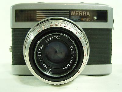 Werra Mat Vintage 35mm Camera with Carl Zeiss lens and lens-ring film advance