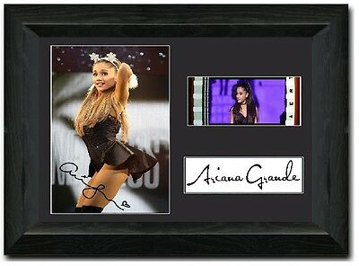 Ariana Grande 35 mm Framed film cell display SIGNED stunning DANGEROUS WOMAN