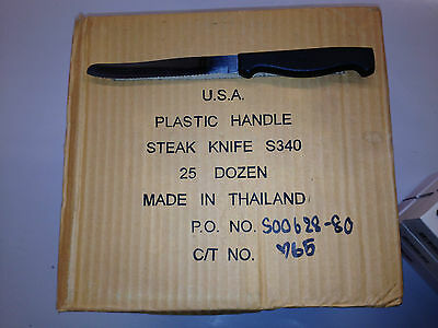 Black Plastic Handle Steak Knives *NEW*